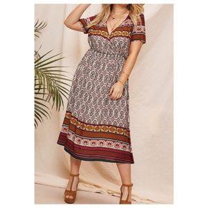 Dresses & Skirts - ➕Boho Multicolored Maxi Dress